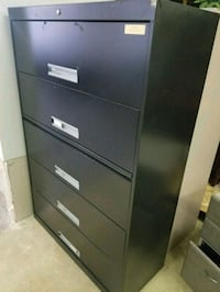 black metal 5-drawer chest Houston, 77041