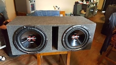 Sony Xplods 2 12inch subs in ported box