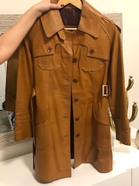 100% real leather coat ,size s Vaughan, L6A