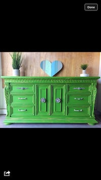 green wooden cabinet with drawer Chandler, 85286