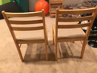 Four brown wooden armless chairs Edina, 55424