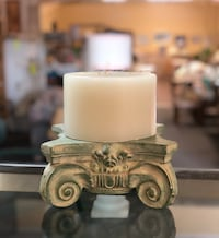 Beautiful Seafoam Green Candle Base with 3wick Candle Myrtle Beach, 29588