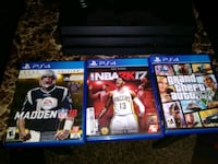 three Sony PS4 game cases Fort Worth, 76112