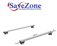 New- HOMCOM Roof Top 2 PC Aluminum Cross Bars Adjustable 49 in Mississauga