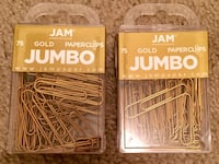 "JAM Jumbo Paper Clips - Large 2"" - Gold Paperclips - 75/pack (2packs) Indianapolis, 46224"