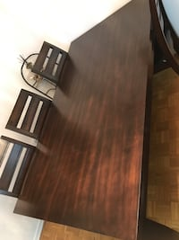 Rectangular brown wooden table with four chairs dining set Toronto, M9V 4A4