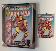 The Invincible Iron man Stretched Canvas & Original Comic Issue 126
