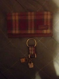 Longaberger checkbook cover and keychain Colcord, 25048