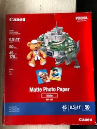 Canon Inkjet matte photo paper, 50 pack, new Toronto, M6J 3P2