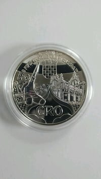 Silver Croatian memorable coin from world cup 2018