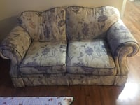 gray and white floral loveseat Langley, V3A 3N5
