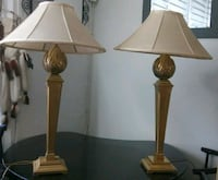 2 Matching Brass Table Lamps Hollywood, 33021