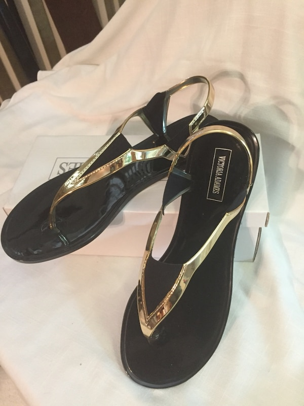 6d9ba8936761 Used Black Flats Jelly Sandal Shoes Victoria Adams for sale in Miami ...