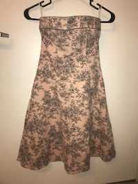 Strapless pink dress with grey print Chicago, 60605