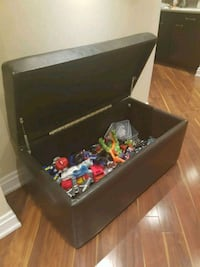 faux leather toy trunk filled with toys Pickering, L1X 0A2