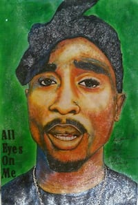 All Eyes on Me Tupac Painting