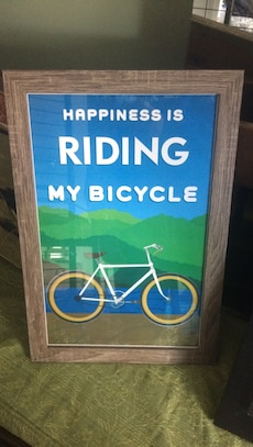 Framed Bike Sign