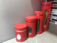 Kitchen Red Canister - Set of 4 Markham, L3P 0C4