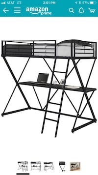 Twin loft bed with desk Cottleville, 63376