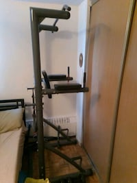 Power tower pull up, ab press and dip machine