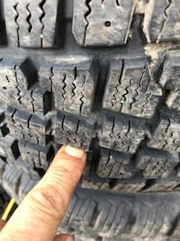 215/60R15 winter tires with rims off of a van  Toronto, M1H 2X8