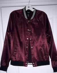 maroon leather zip-up jacket Toronto, M3A