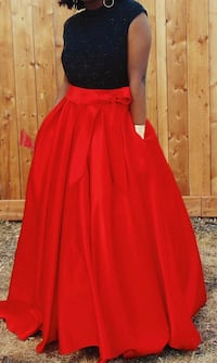 Red & Black Grad Dress Edmonton, T5K