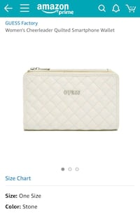 white and gray quilted leather wristlet New York, 10007