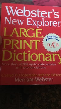 Webster's new explorer large print dictionary Су-Фоллс, 57108