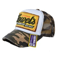 CHUNGLIM HOWELS THUNDERS BREATHABLE CURVED CAPS IN CAMOUFLAGE