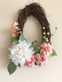 white and pink flower wreath ARLINGTON