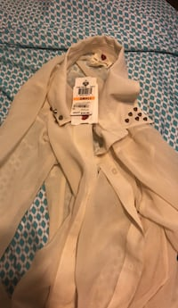 brown button-up coat Aurora, 80010