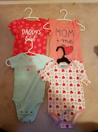 baby's four assorted onesies Milton, L9T 8B9