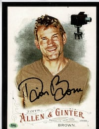 TOPPS ALLEN GINTER DWIER BROWN HAND SIGNED 8 X 10 WITH COA Lake Alfred, FL, USA