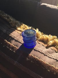 Old Antique Blue glass cup
