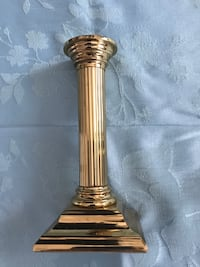 Brass candle stick set