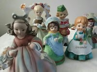 assorted female ceramic figurines