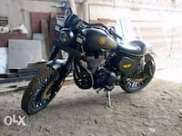 Modified standard bullet motorcycle Vadgaon Bk.