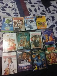 twelve DVD movie cases
