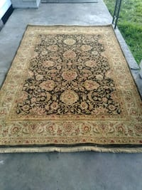 brown and beige floral area rug Jennings, 70546