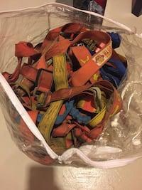 Safety belt Brown, red, and blue textile Hamilton, L9C 7M1