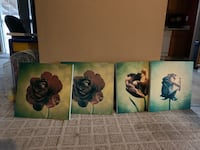 two black and brown floral paintings Manteca, 95336