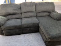 Gray fabric 3-seat recliner sofa Metairie
