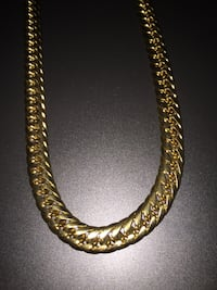 """Cuban link 30"""" 18k gold plated chain St Catharines, L2M 6P9"""