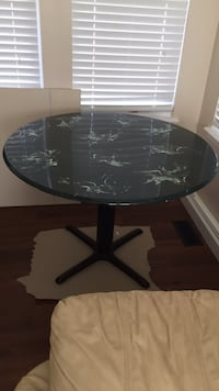 Green marble pattern table Troy, 63379