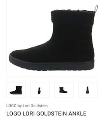 Brand NEW Logo Lori Goldstein black suede ankle boots size 6 NIB Hanover Park, 60133