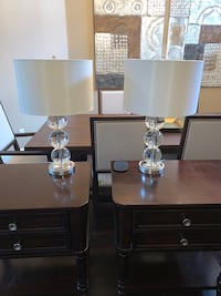 Set of Peir 1 Glass Lamps (2 total)