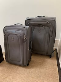 Two canvas suitcases