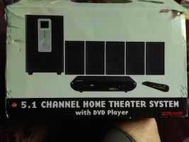5.1 Channel home theater system with DVD player