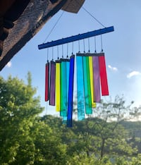 Chakra Rainbow Stained Colored Glass Wind Chime Sun Catcher Nashville, 37209